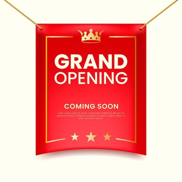 Inauguração e cordas penduradas Vetor Premium