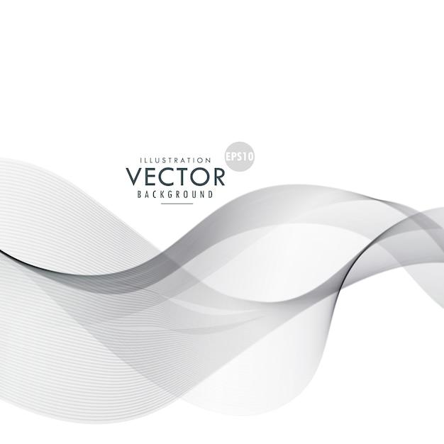 Incrível forma ondulada fundo cinzento abstrato Vetor grátis