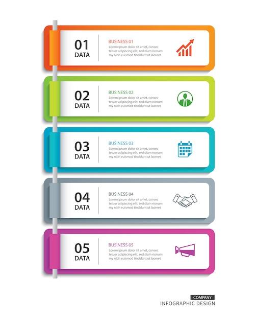 Índice de papel de guia de infográficos Vetor Premium