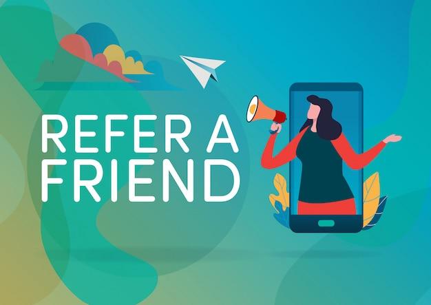 Indique um amigo. Vetor Premium