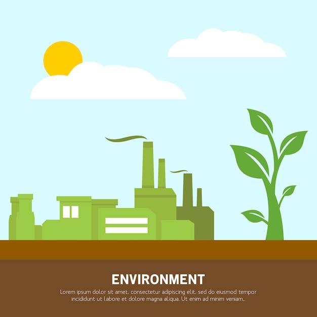 Indústria ambiental Vetor Premium
