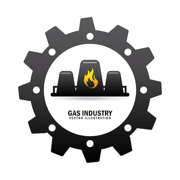 Indústria de gás Vetor grátis