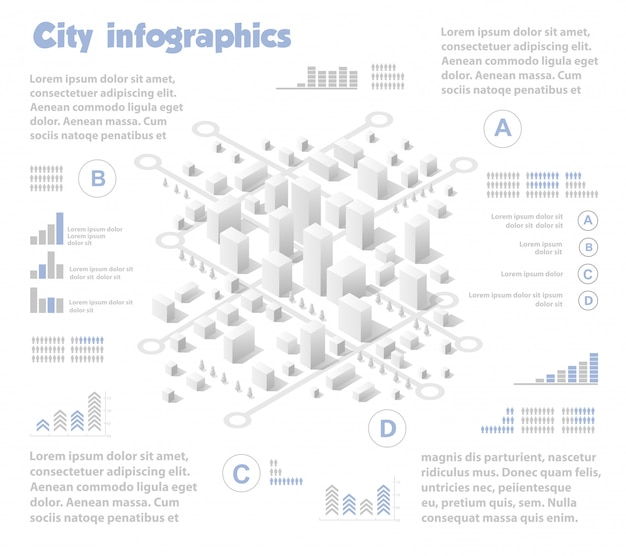 Indústria de mapa de cidade isométrica Vetor Premium