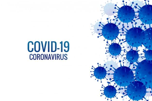 Infecção por vírus ou bactérias gripe fundo Vetor grátis