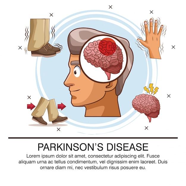 Infografia da doença de parkinson Vetor Premium