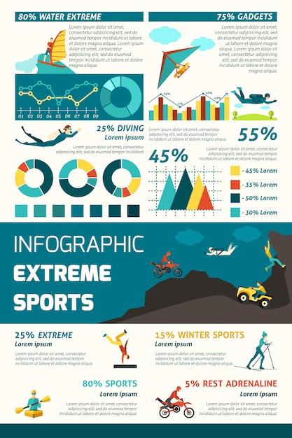 Infografia de esportes radicais Vetor grátis