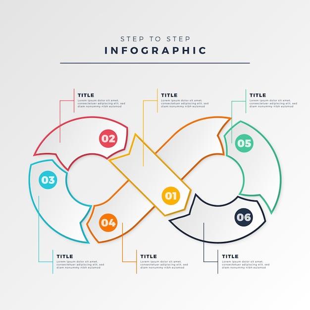 Infografia de loop infinito Vetor grátis