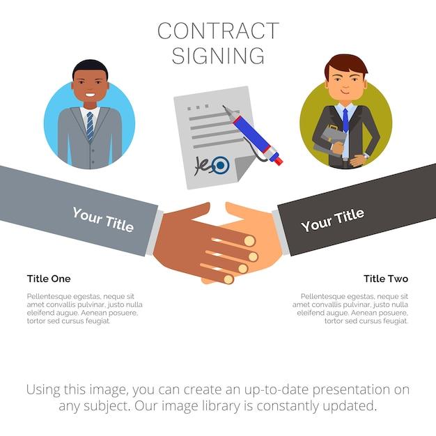 Infografia de negócios com dois elementos Vetor grátis