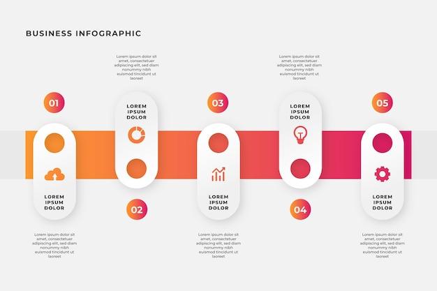 Infografia de negócios em design plano Vetor grátis