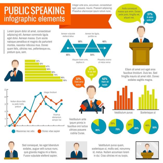 Infografia em fala pública Vetor grátis