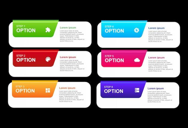 Infográfico 3d com modelo de design de opções Vetor Premium