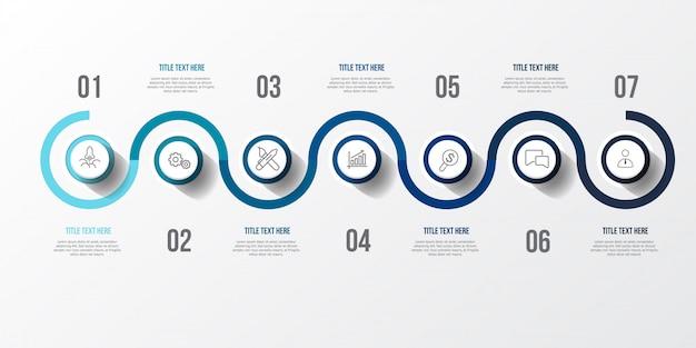 Infográfico azul com mesa 3d Vetor Premium