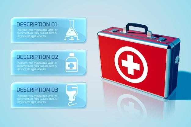 Infográfico de assistência médica Vetor grátis