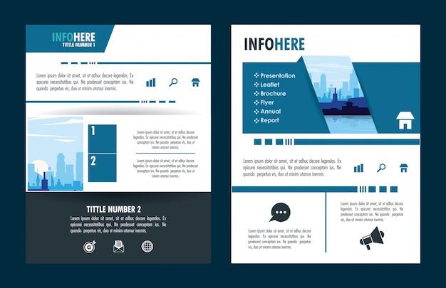 Infográfico de brochura da cidade Vetor Premium
