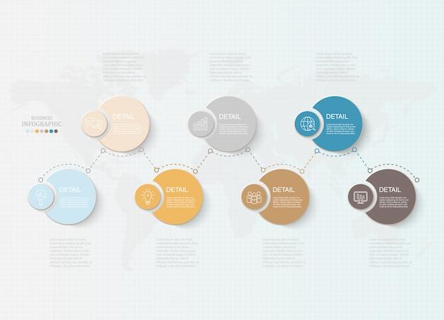 Infográfico de círculos básicos Vetor Premium