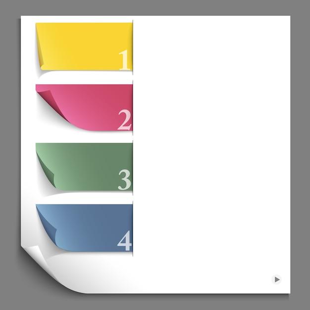 Infográfico de design de papel para layout do site Vetor Premium