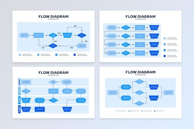 Infográfico de diagrama de fluxo Vetor grátis