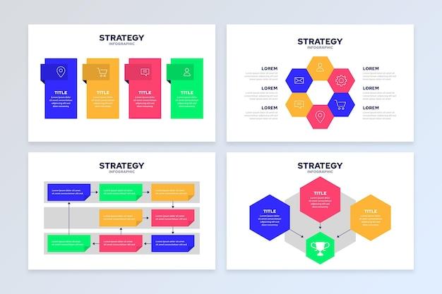 Infográfico de estratégia Vetor grátis