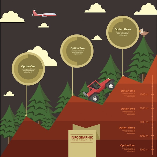 Infográfico de estrutura de terra Vetor Premium