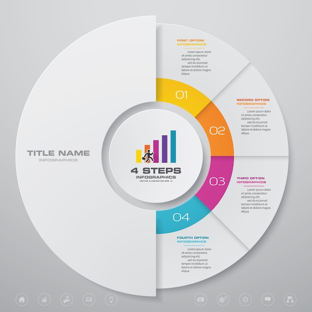 Infográfico de gráfico de ciclo Vetor Premium