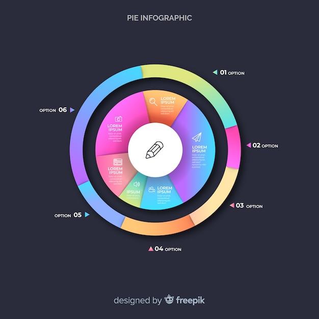 Infográfico de gráfico de pizza Vetor grátis