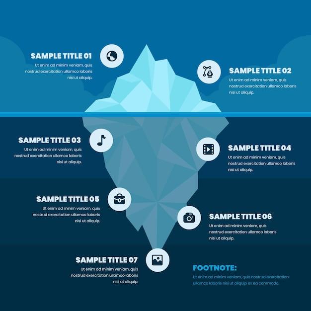 Infográfico de iceberg poli Vetor grátis