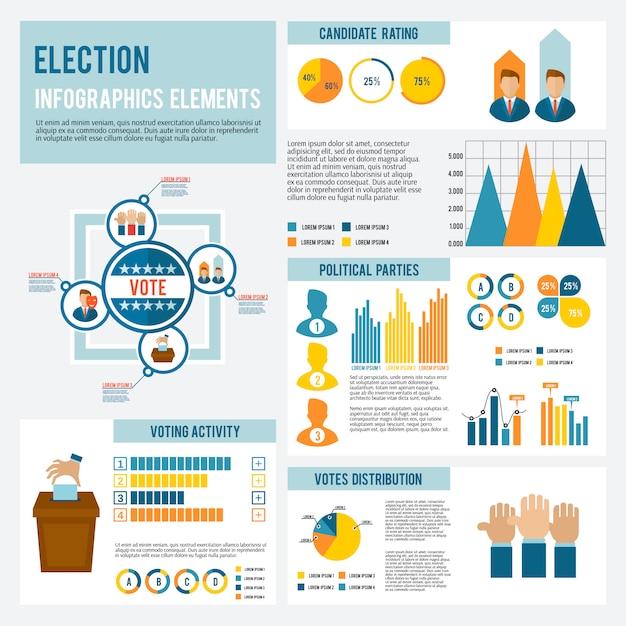Infográfico de ícone de eleição Vetor Premium