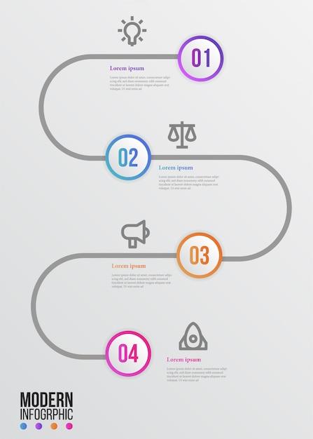 Infográfico de marco de beleza moderna elegante Vetor Premium