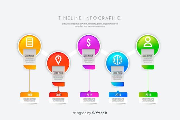 Infográfico de negócios da linha do tempo Vetor grátis