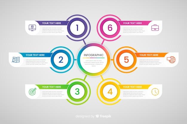 Infográfico de negócios de etapas Vetor grátis