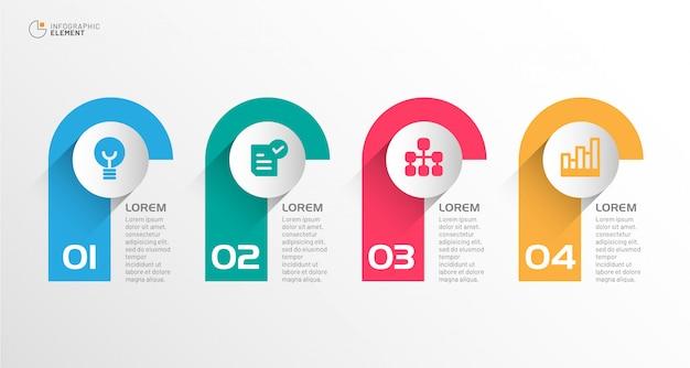 Infográfico de negócios modernos Vetor Premium