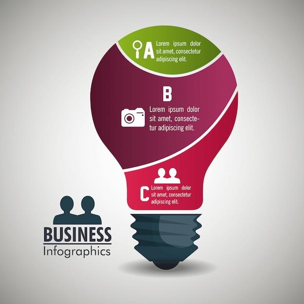 Infográfico de negócios Vetor grátis