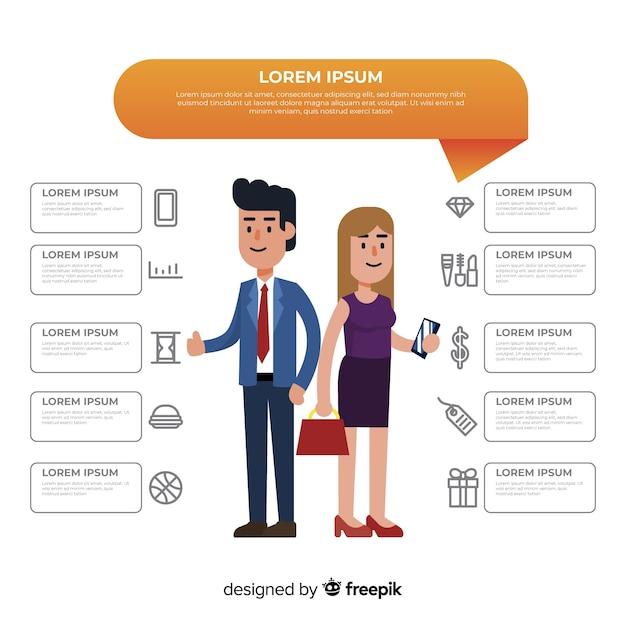 Infográfico de perfil de cliente Vetor grátis