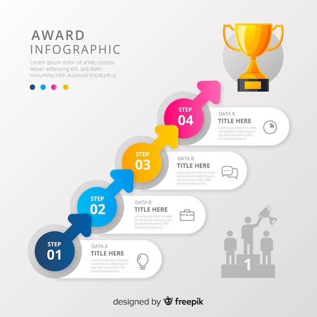Infográfico de prêmio Vetor grátis