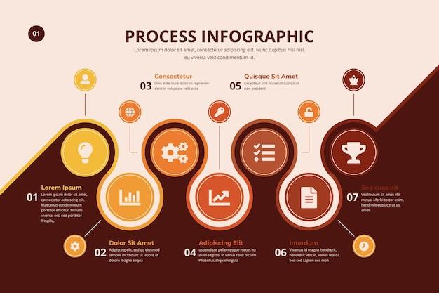 Infográfico de processo com gráfico Vetor grátis
