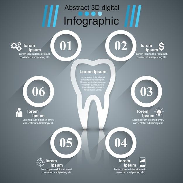 Infográfico de saúde. Vetor Premium