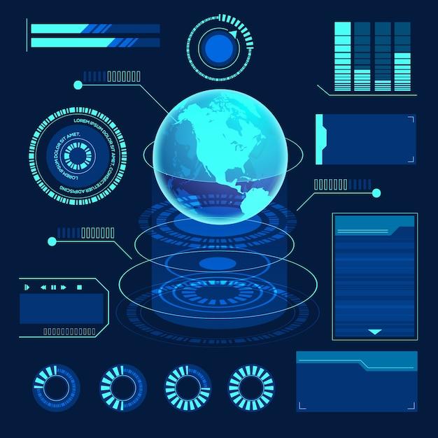 Infográfico de tecnologia futurista Vetor grátis