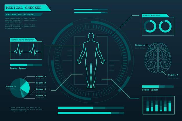 Infográfico de tecnologia médica Vetor grátis
