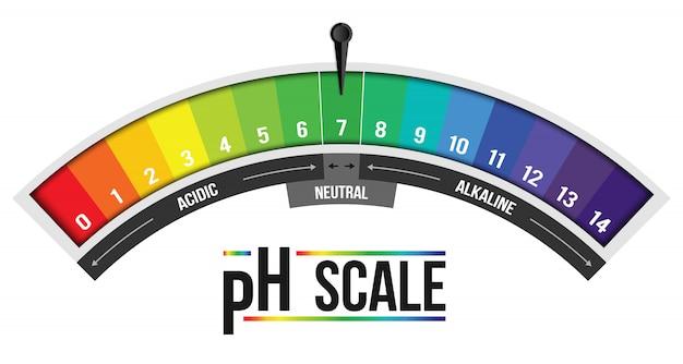Infográfico de valor de escala ph, elemento de papel de tornassol. Vetor Premium