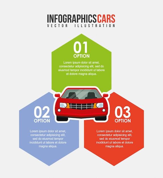 Infográfico de veículo Vetor Premium