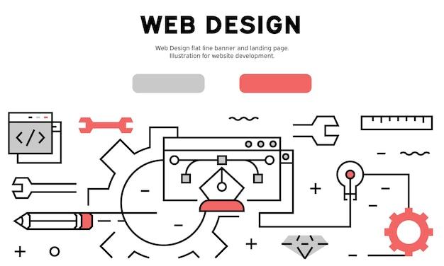 Infográfico de web design Vetor Premium
