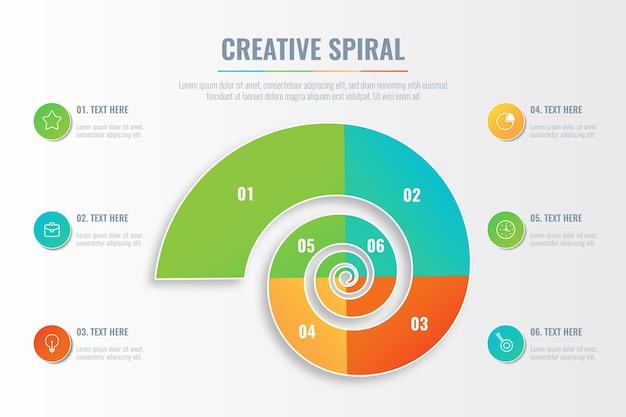 Infográfico em espiral Vetor grátis