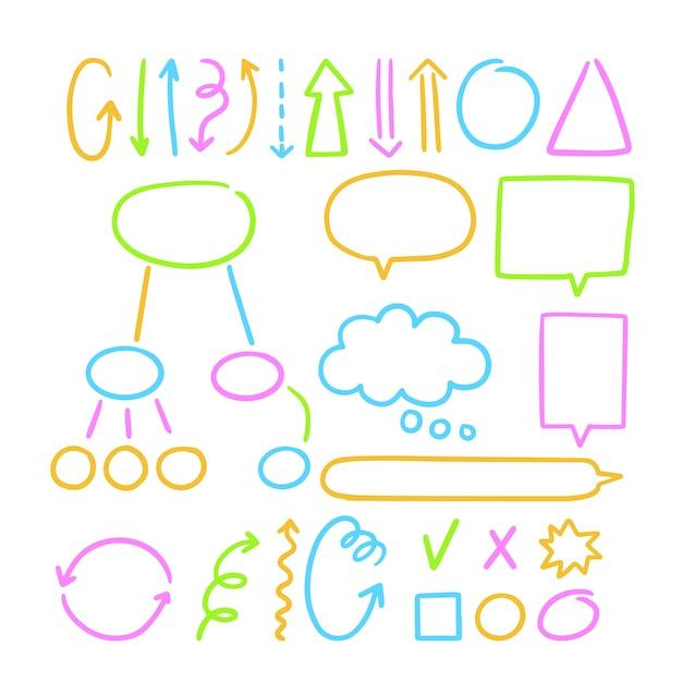 Infográfico escolar com vários elementos educacionais Vetor grátis