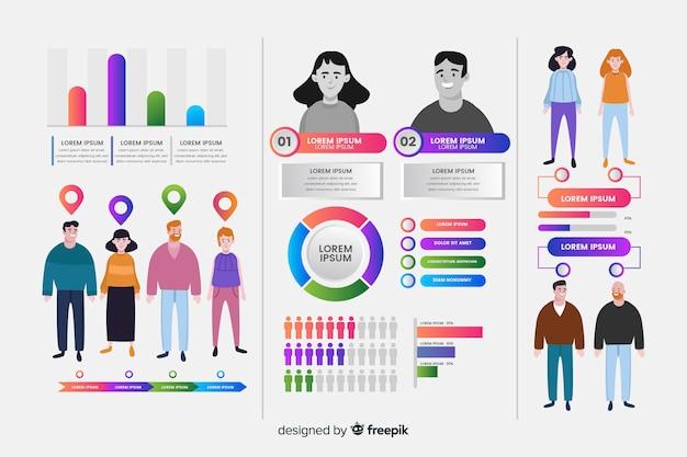 Infográfico humano Vetor grátis