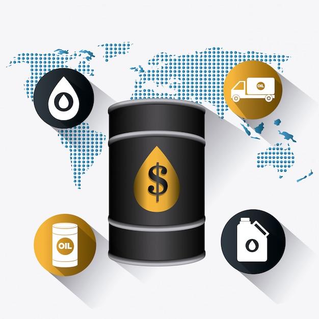 Infográfico industrial de petróleo e óleo Vetor grátis