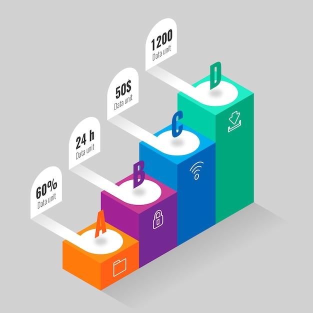 Infográfico isométrico Vetor grátis
