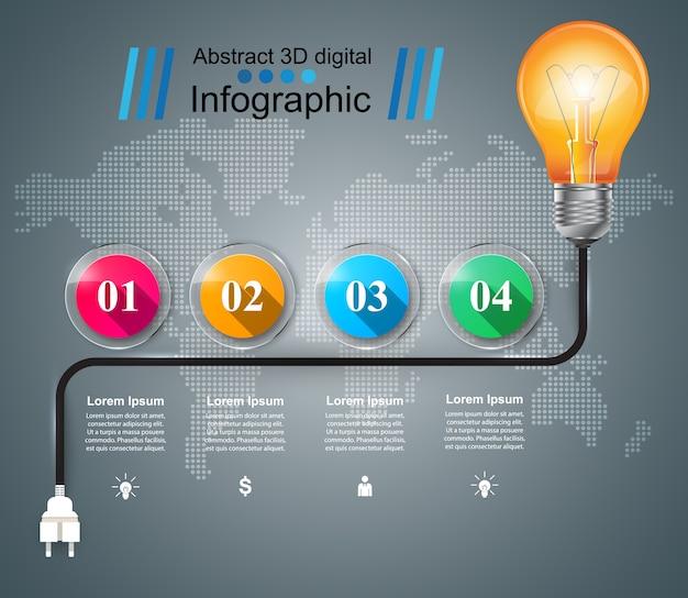 Infográfico marketing de modelo de design. Vetor Premium