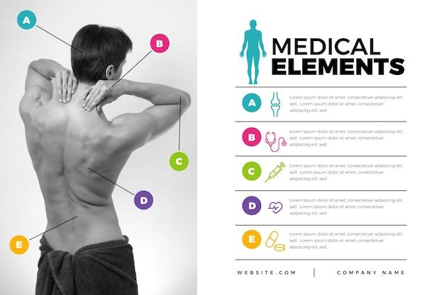 Infográfico médico com imagem Vetor grátis