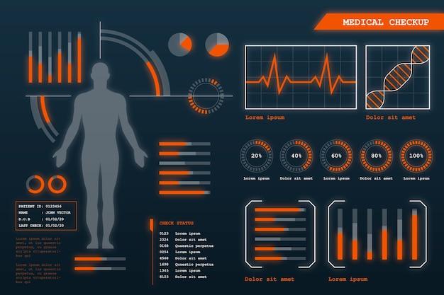 Infográfico médico futurista Vetor grátis