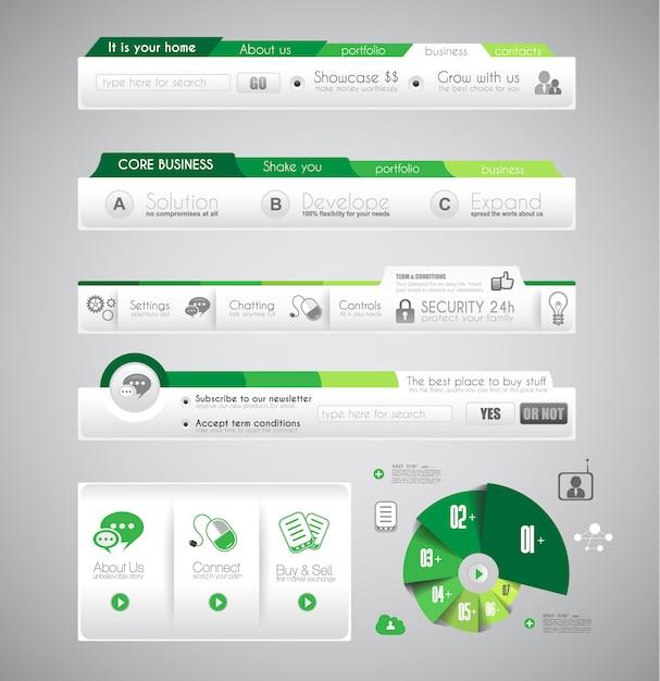 Infográfico modelo com elementos Vetor Premium